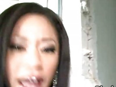 Ebony Babe Jayla Starr Gets Roughly Gang Banged