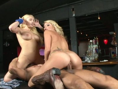 Busty sluts Kagney Linn Karter and Monique Alexander have threesome fuck