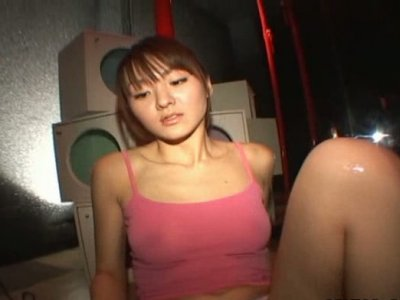 Filthy Japanese beauty Maki Ishizaka drinks sticky goo