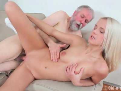 Charming Teen Rides Old Guy - Joleyn Burst